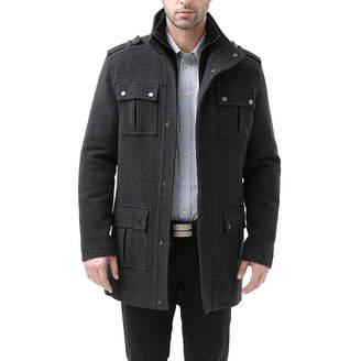 Asstd National Brand David Wool Blend Military Peacoat Jacket