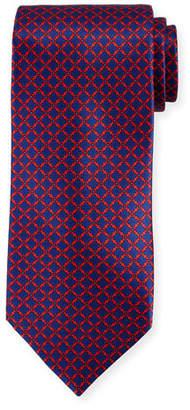 Stefano Ricci Medallion Pattern Silk Tie