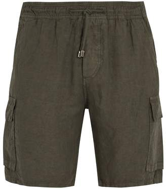 Altea Elasticated-waist linen cargo shorts