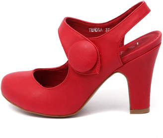 I Love Billy Tendra Red Shoes Womens Shoes Dress Heeled Shoes