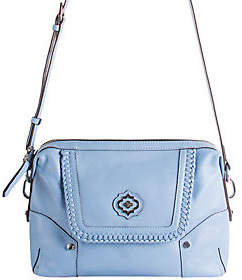 Oryany Pebble Leather Crossbody w/ WhipstitchDetail - Lacy