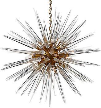 Visual Comfort & Co. Quincy Medium Sputnik Pendant - Brass