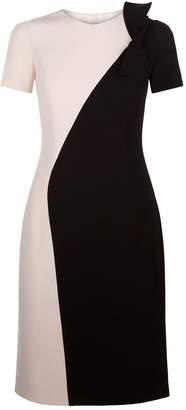 Paule Ka Bow Detail Sheath Dress