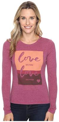 Life is Good Love You Take Long Sleeve Sweet Tee Women's Long Sleeve Pullover