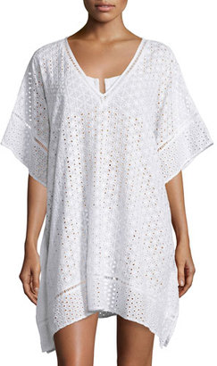 JETS by Jessika Allen Eyelet Lace Caftan Coverup, White $189 thestylecure.com