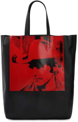 Calvin Klein Dennis Hopper Leather Tote Bag