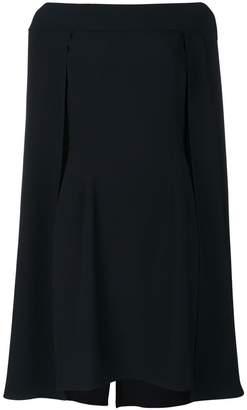 Alberta Ferretti cape layered dress