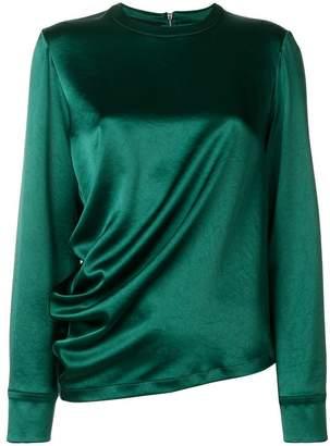 Cédric Charlier longsleeved draped blouse