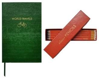 Sloane Stationery World Travels Pocket Notebook & Clever Pencils