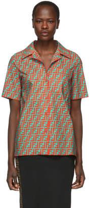 Fendi Orange Forever Bowling Shirt