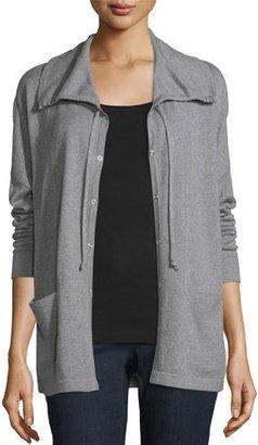Eileen Fisher Peruvian Flannel Cardigan $258 thestylecure.com