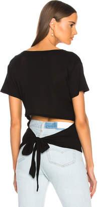 Enza Costa Jersey Tie Back Short Sleeve Tee