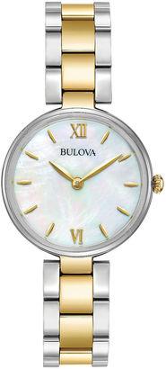Bulova Womens Two Tone Bracelet Watch-98l226 $250 thestylecure.com