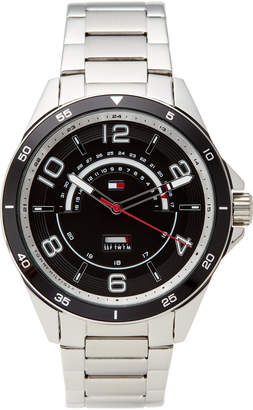 Tommy Hilfiger 1791394 Black & Silver-Tone Ian Watch