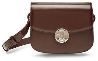 Calvin Klein Small Round Lock Leather Shoulder Bag