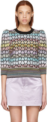 Marc Jacobs Multicolor Cropped Mohair Heart Sweater $1,500 thestylecure.com