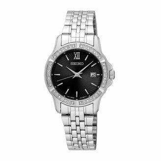 Seiko Womens Silver Tone Bracelet Watch-Sur733 $200 thestylecure.com