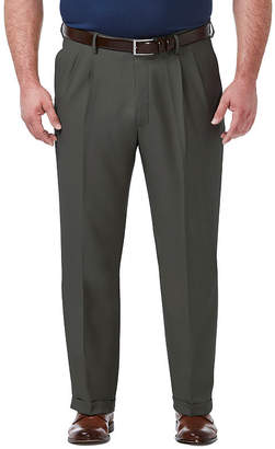 Haggar Premium Comfort Dress Classic Fit Pleated Pants Big and Tall