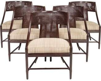 Set of 5 McGuire Classic Curve Dining Chairs