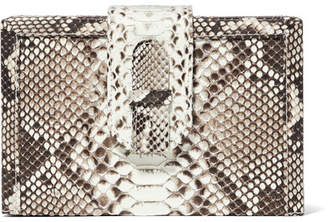 Ximena Kavalekas - Mandolin Python Clutch - Snake print