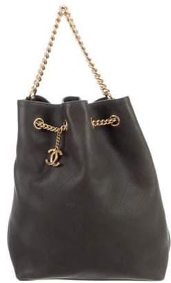 Chanel 2016 Large On My Shoulder Bucket Bag Olive 2016 Large On My Shoulder Bucket Bag