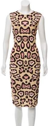 Givenchy Animal Print Midi Dress