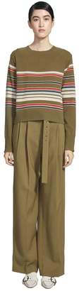 Freddy Sies Marjan Cashmere Striped Crop Sweater