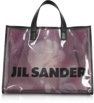 At Forzieri Jil Sander See Through Medium Vinyl Tote Bag
