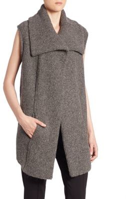 Brochu Walker Oak Knitted Alpaca Blend Vest $428 thestylecure.com