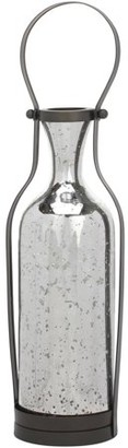 STONEBRIAR COLLECTION Stonebriar Collection Large Hanging Mercury Glass Vase with Metal Hanger