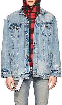 Warren Lotas Men's Distressed Denim Jacket