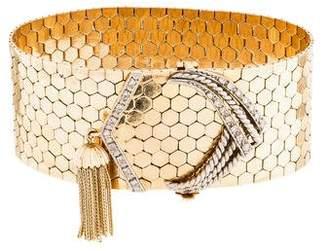 Diamond Belt Wrap Bracelet