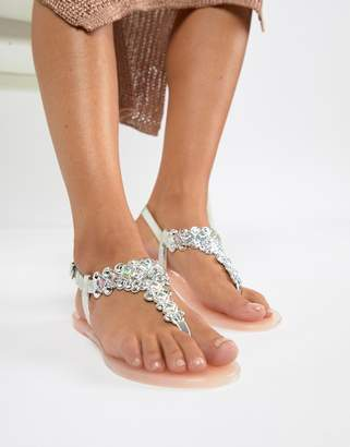 Miss KG Dory Embellished Jelly Flat Sandals
