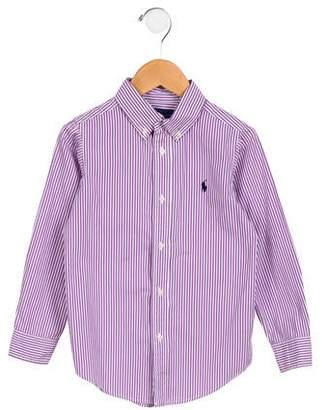Ralph Lauren Boys' Striped Button-Up Shirt