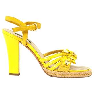 Louis Vuitton Yellow Suede Sandals
