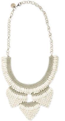 Deepa Gurnani Enamel Feather Statement Necklace