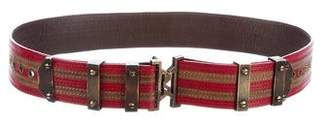 Proenza Schouler Leather Striped Belt