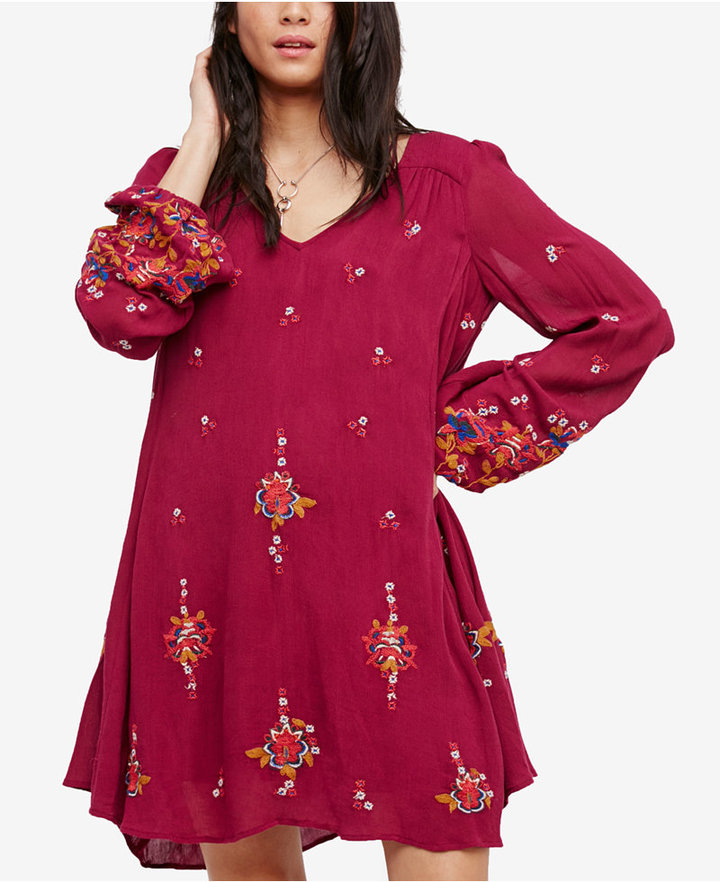 Free People Oxford Embroidered Shift Dress 8
