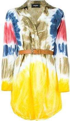 Dsquared2 tie-dye shirt dress $975 thestylecure.com