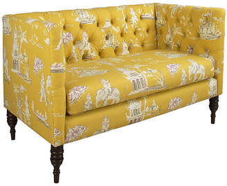 One Kings Lane Churchill Tufted Settee - Butterscotch