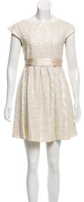 Alice + Olivia Sequins Accented Silk Dress