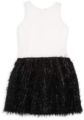Fly London Zoe Girl's Girl Feathered Halter Dress