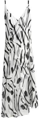 Diane von Furstenberg Wrap-Effect Printed Silk-Chiffon Midi Dress