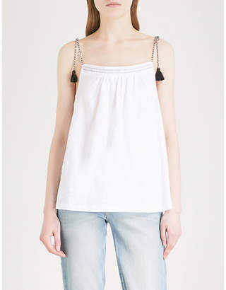 The White Company Rope strap tassel tie cotton top