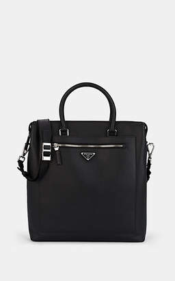 bcb2bef8f685 Prada Men s Leather Travel Tote Bag - Black