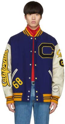 Calvin Klein Blue Berkeley Edition Bear Bomber Jacket