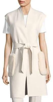 Max Mara Alben Doppio Fur Pocket Vest