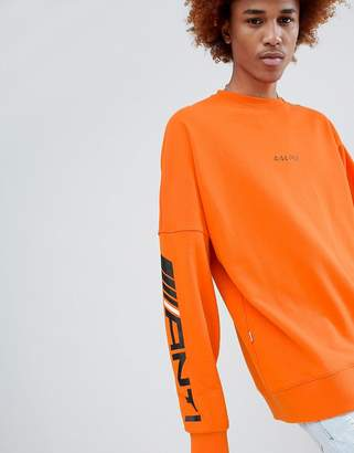 Antimatter Long Sleeve T-Shirt In Orange