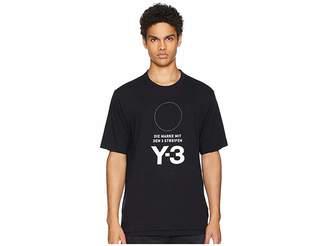 Yohji Yamamoto Stacked Logo Short Sleeve Tee