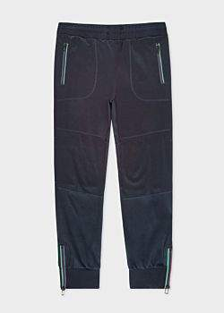 Paul Smith Men's Dark Navy Cotton-Blend Panelled Sweatpants With Cycle Stripe Detail